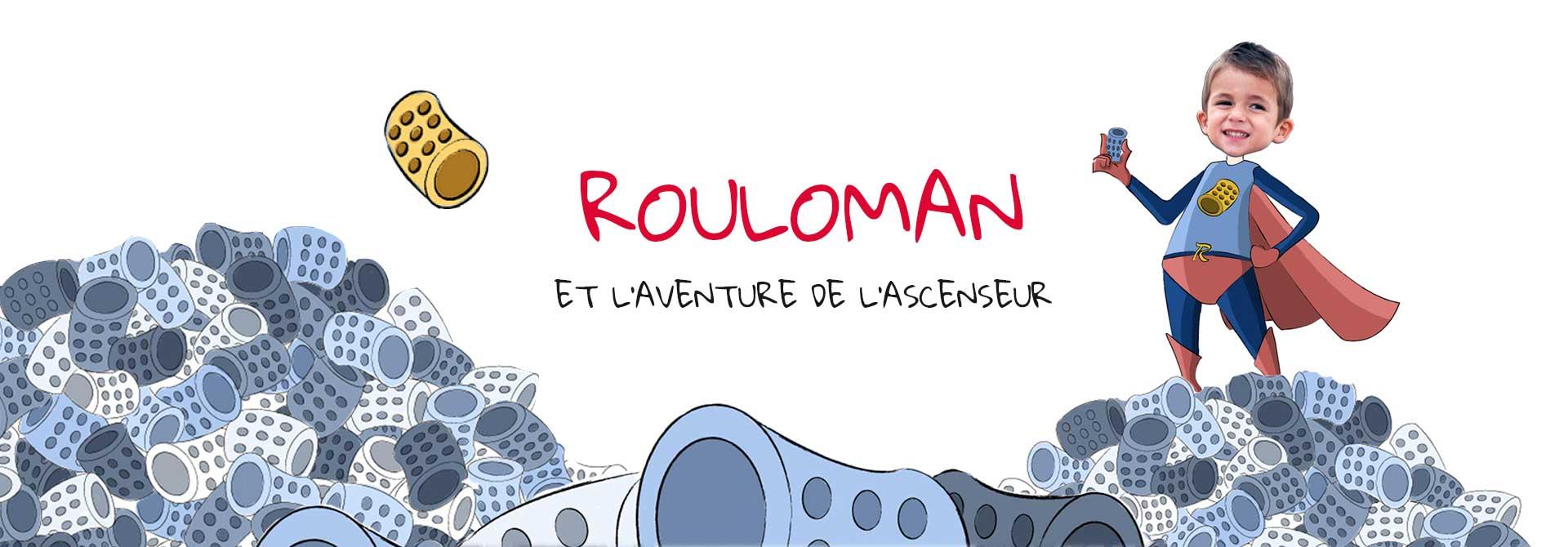 Livre super-héros personnalisé pour enfant avec photo: Ruloman - En-tête du produit